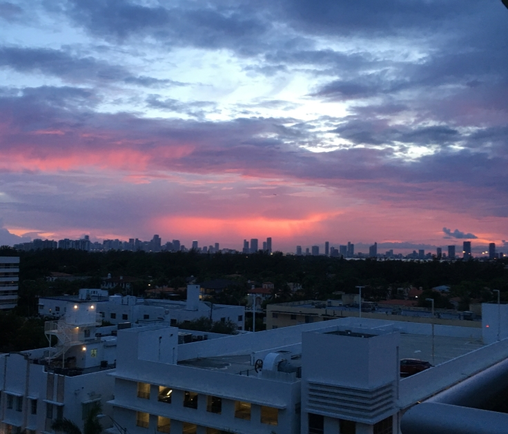 South Beach Miami Sunset